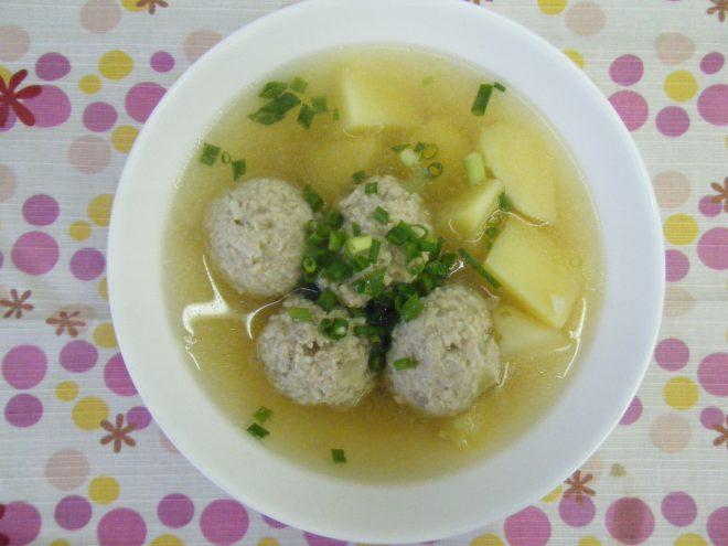 えのき肉団子のスープ