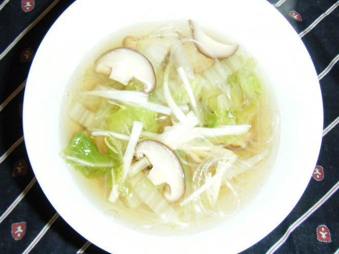 春雨と白菜のスープ
