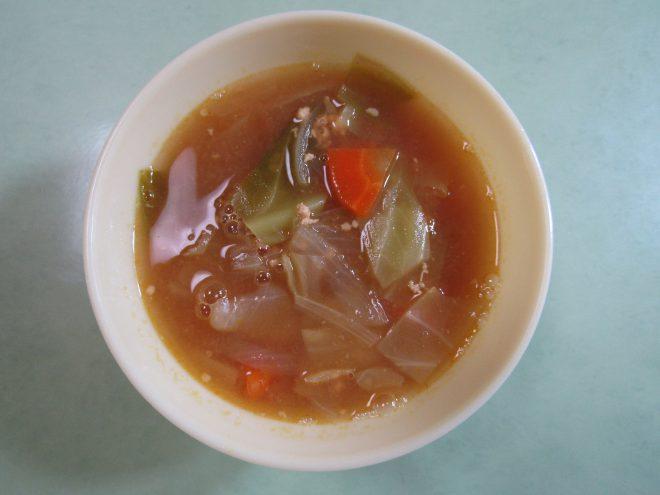 野菜と鶏ひき肉のカレースープ