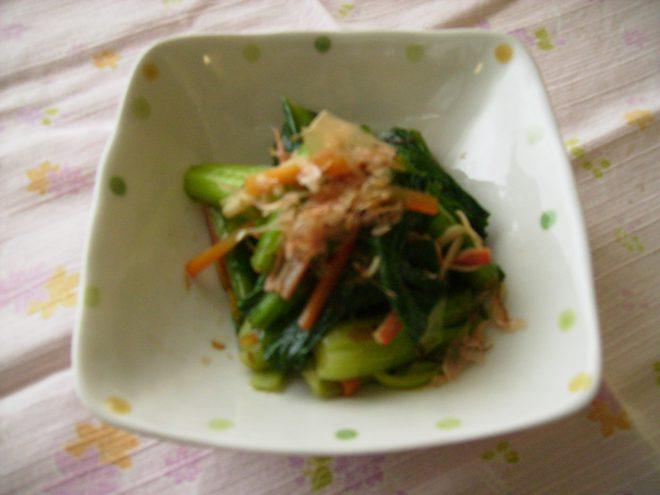 小松菜とカニカマのあえもの
