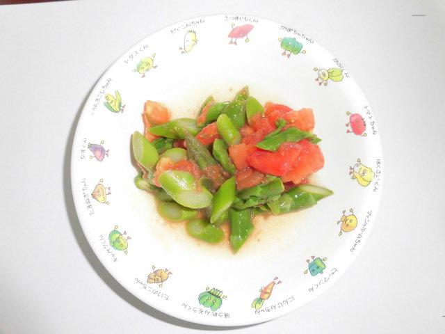 アスパラとトマトのサラダ