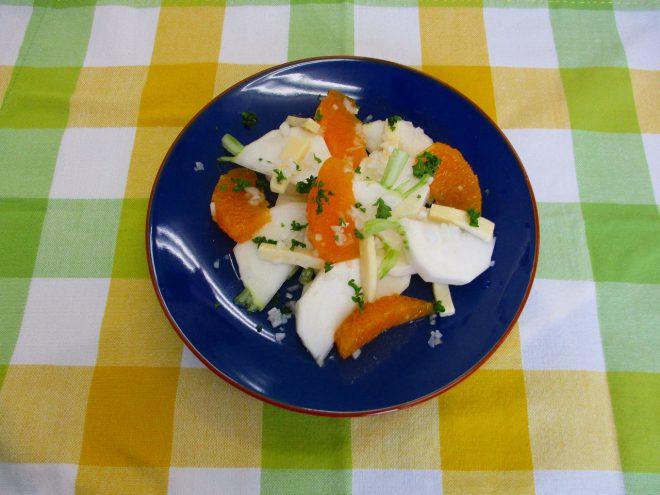 かぶとオレンジのサラダ