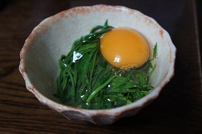 木の芽のわさび醤油(卵入り)