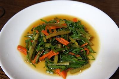 ふきと水菜の炒め物