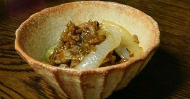 ナスと玉ねぎの炒め物