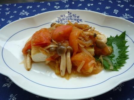 豆腐ステーキトマトソース