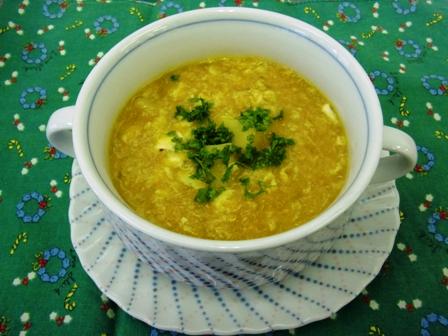 にんじん&たまごスープ