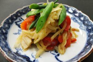 切干大根のペペロンチーノ風煮物