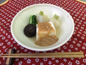 湯豆腐のかにあんかけ