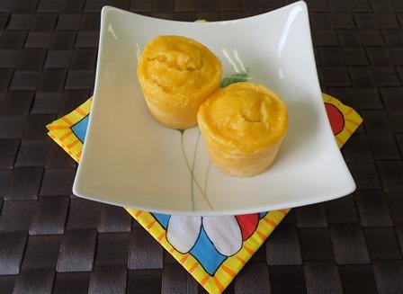 オレンジとにんじんのカップケーキ