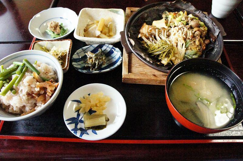 いろりじねん ほお葉焼き定食(ご飯)