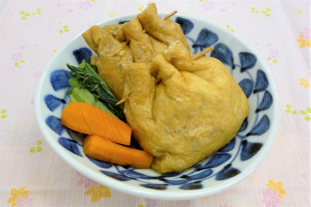 鶏肉ときのこの巾着煮